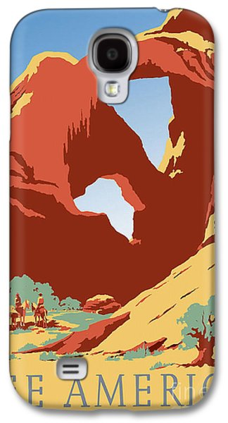 See Galaxy S4 Cases - See America Vintage Travel Poster Galaxy S4 Case by Jon Neidert