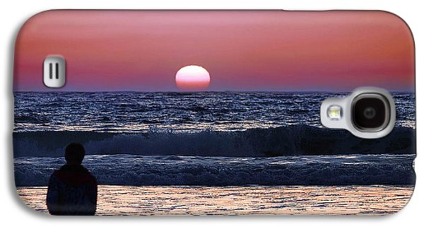 Surf Silhouette Galaxy S4 Cases - See the Sun Set Galaxy S4 Case by Camille Lopez