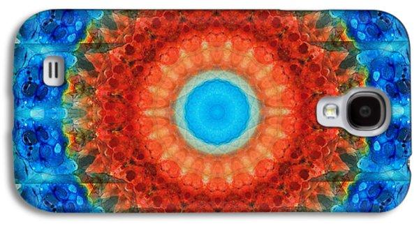 Kaleidoscope Galaxy S4 Cases - Seeing Mandala 1 - Spiritual Art By Sharon Cummings  Galaxy S4 Case by Sharon Cummings