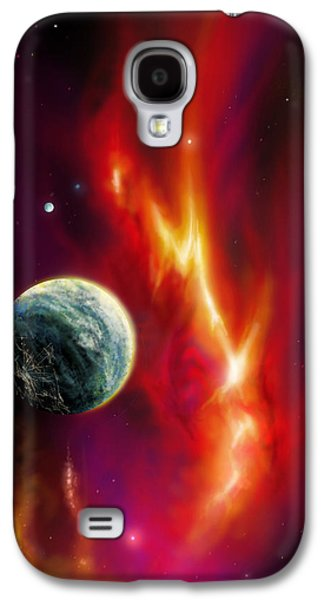 Planet System Paintings Galaxy S4 Cases - Seleamov Galaxy S4 Case by James Christopher Hill