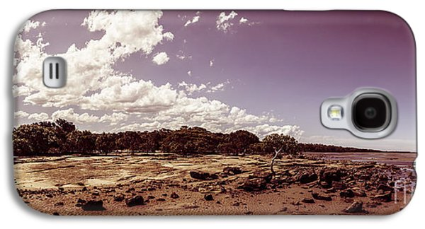 Selenium Toned Rocky Beach Landscape Galaxy S4 Case by Jorgo Photography - Wall Art Gallery