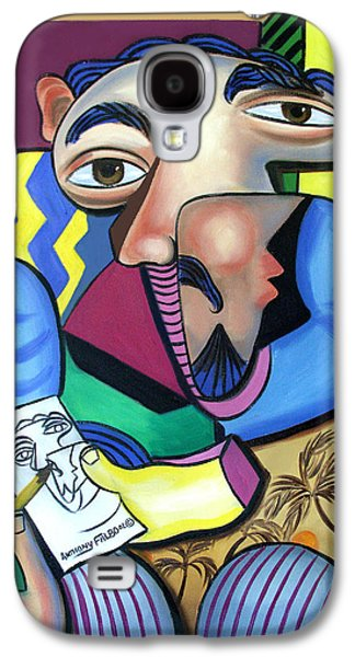Self Portrait Galaxy S4 Cases - Self Portrait 101 Galaxy S4 Case by Anthony Falbo