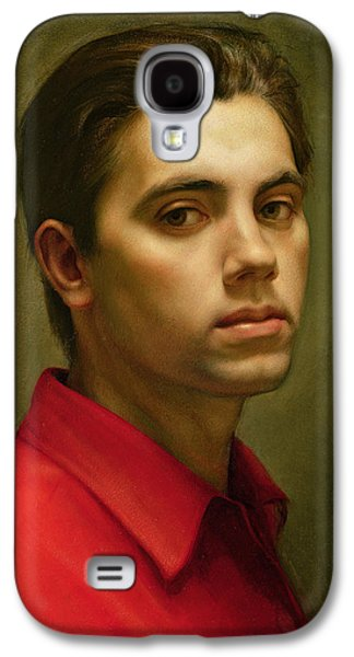 Young Man Photographs Galaxy S4 Cases - Self Portrait, 1959 Oil On Tempera Galaxy S4 Case by Antonio Ciccone