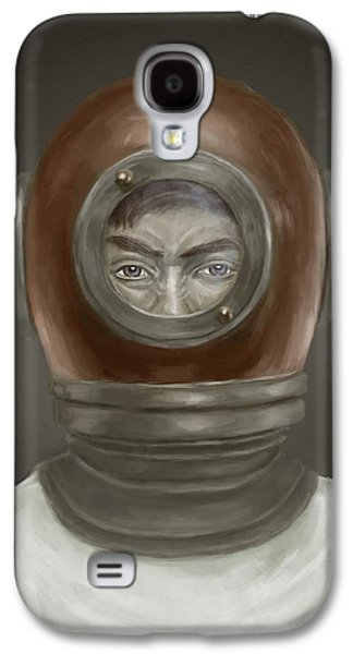 Digital Galaxy S4 Cases - Self Portrait Galaxy S4 Case by Balazs Solti