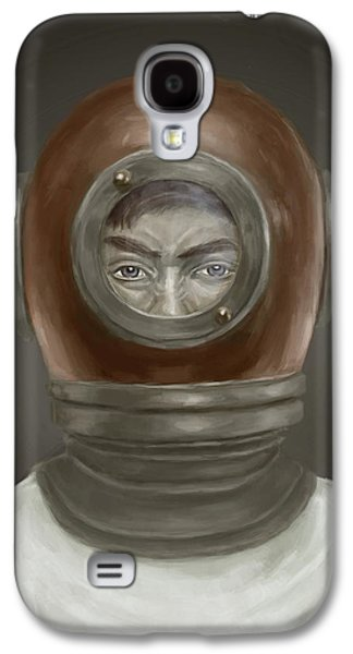 Face Digital Galaxy S4 Cases - Self Portrait Galaxy S4 Case by Balazs Solti