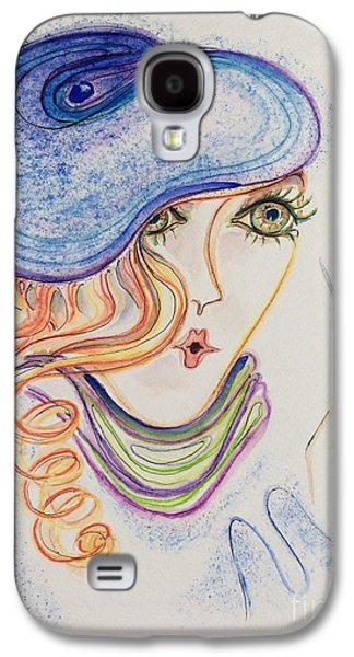 Drawing Galaxy S4 Cases - Self Portrait Galaxy S4 Case by Barbara Chase