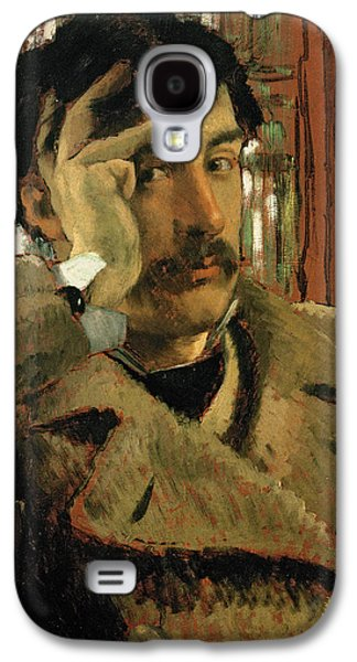 Thoughtful Photographs Galaxy S4 Cases - Self Portrait, C.1865 Panel Galaxy S4 Case by James Jacques Joseph Tissot