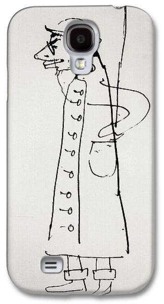 Caricatures Galaxy S4 Cases - Self Portrait, C.1885 Bw Photo Galaxy S4 Case by Henri de Toulouse-Lautrec