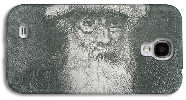 Impressionism Drawings Galaxy S4 Cases - Self Portrait  Galaxy S4 Case by Camille Pissarro