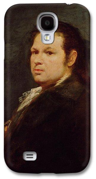 At Work Galaxy S4 Cases - Self Portrait Galaxy S4 Case by Goya