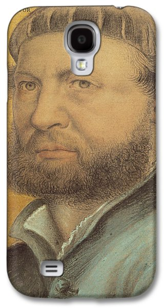 Portraits Pastels Galaxy S4 Cases - Self Portrait Galaxy S4 Case by Hans Holbein