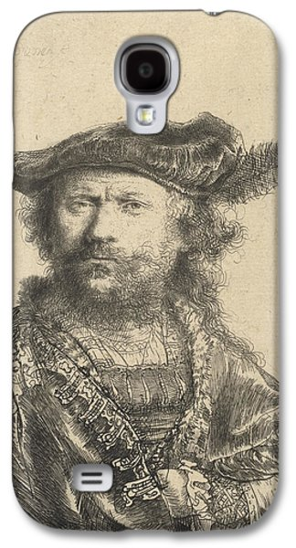 Self Portrait In A Velvet Cap With Plume Galaxy S4 Case by Rembrandt