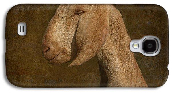 Goat Digital Art Galaxy S4 Cases - Self Portrait Galaxy S4 Case by Jeff Burgess
