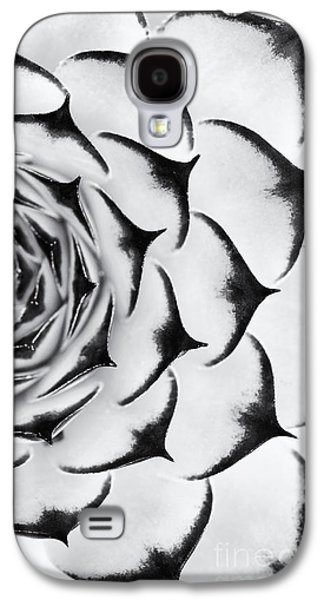 Chicks Galaxy S4 Cases - Sempervivum Pattern Monochrome Galaxy S4 Case by Tim Gainey