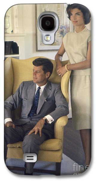 First-lady Galaxy S4 Cases - Senator John F. Kennedy with Jacqueline 1959 Galaxy S4 Case by The Phillip Harrington Collection