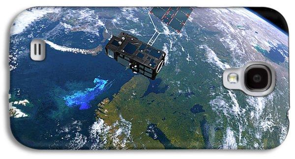 Sentinel-3 Satellite In Orbit Galaxy S4 Case by Atg Medialab/esa
