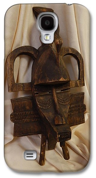 People Sculptures Galaxy S4 Cases - Senufo Tribe Mask Galaxy S4 Case by Ivory Coast Africa Senufo Tribe