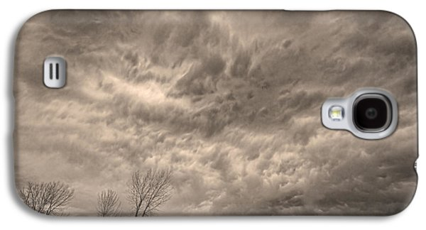 Storm Prints Photographs Galaxy S4 Cases - Sepia Angry Skies Galaxy S4 Case by James BO  Insogna