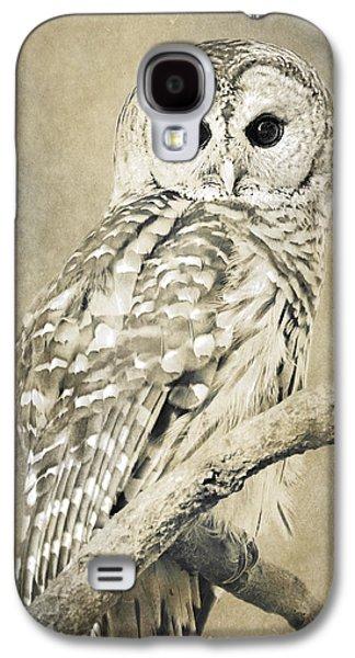 Rollo Digital Art Galaxy S4 Cases - Sepia Owl Galaxy S4 Case by Christina Rollo