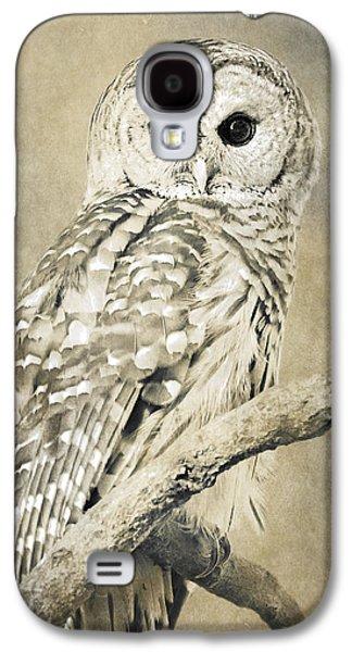 Rollosphotos Digital Art Galaxy S4 Cases - Sepia Owl Galaxy S4 Case by Christina Rollo