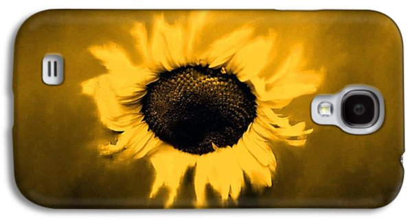 Original Photographs Galaxy S4 Cases - Sepia Sunflower Galaxy S4 Case by Star West