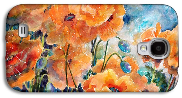 Abstract Landscape Galaxy S4 Cases - September Orange Poppies            Galaxy S4 Case by Kathy Braud