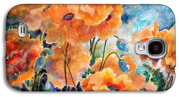 Pods Galaxy S4 Cases - September Orange Poppies            Galaxy S4 Case by Kathy Braud