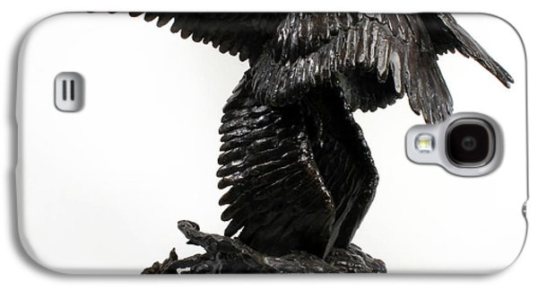 Surrealism Sculptures Galaxy S4 Cases - Seraph Angel a religious bronze sculpture by Adam Long Galaxy S4 Case by Adam Long