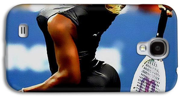 French Open Mixed Media Galaxy S4 Cases - Serena Williams Catsuit II Galaxy S4 Case by Brian Reaves