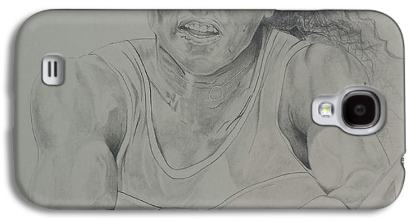 Fed Drawings Galaxy S4 Cases - Serena Williams Galaxy S4 Case by DMo Herr