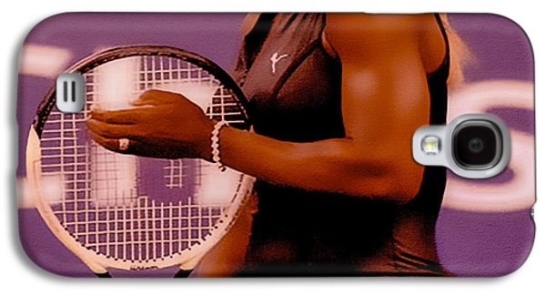 French Open Mixed Media Galaxy S4 Cases - Serena Williams Oh My Galaxy S4 Case by Brian Reaves