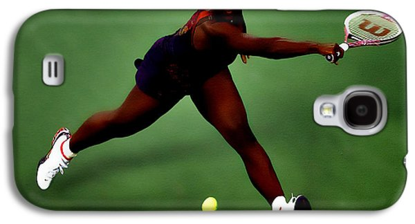 French Open Mixed Media Galaxy S4 Cases - Serena Williams on Point Galaxy S4 Case by Brian Reaves