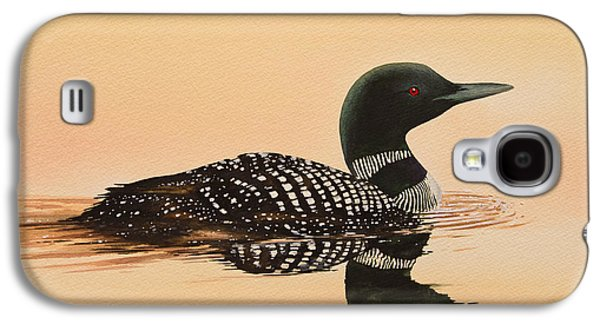 Loon Galaxy S4 Cases - Serene Beauty Galaxy S4 Case by James Williamson