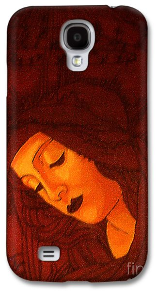 Byzantine Paintings Galaxy S4 Cases - Serene Botticelli Madonna Galaxy S4 Case by Genevieve Esson