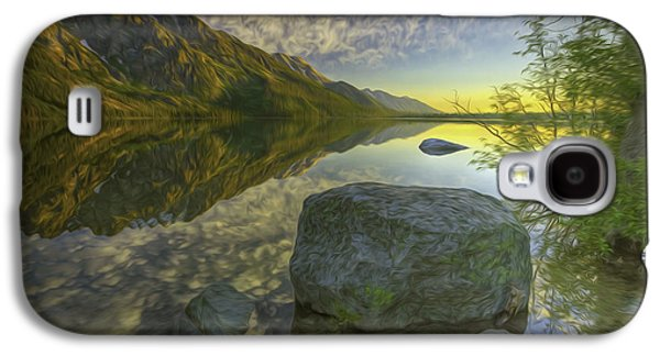 Aotearoa Galaxy S4 Cases - Serene Lake McDonald in Glacier National Park Galaxy S4 Case by Lanjee Chee