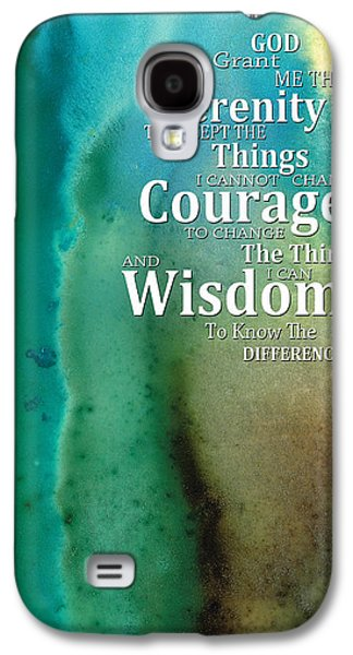 Courage Galaxy S4 Cases - Serenity Prayer 2 - By Sharon Cummings Galaxy S4 Case by Sharon Cummings