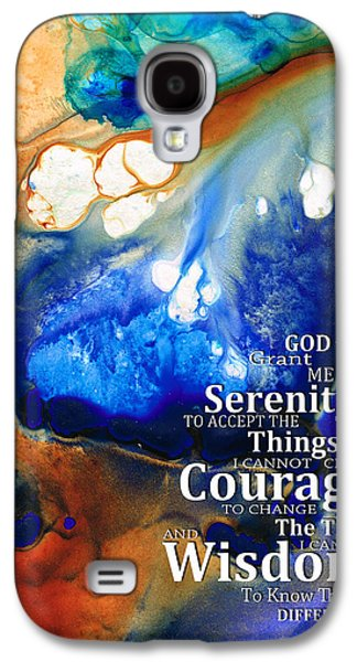 Strength Galaxy S4 Cases - Serenity Prayer 4 - By Sharon Cummings Galaxy S4 Case by Sharon Cummings