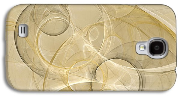 Abstract Digital Art Galaxy S4 Cases - Series Abstract Art in Earth Tones 4 Galaxy S4 Case by Gabiw Art
