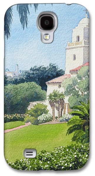 Museum Paintings Galaxy S4 Cases - Serra Museum and USD Galaxy S4 Case by Mary Helmreich