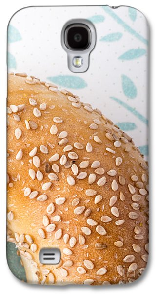 Sesame Bagel Galaxy S4 Case by Edward Fielding
