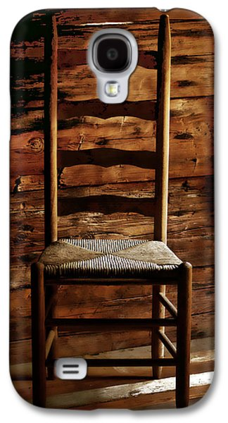 Ladder Back Chairs Galaxy S4 Cases - Set a Spell Galaxy S4 Case by Linda Mcfarland