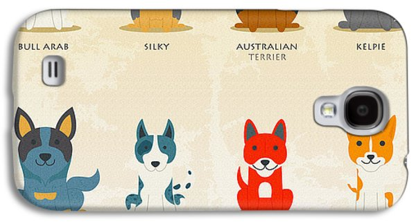 Puppy Digital Galaxy S4 Cases - Set of australian dogs Galaxy S4 Case by Don Kuing
