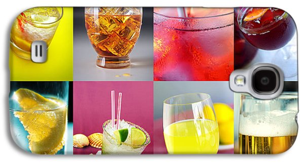 Alcohol Photographs Galaxy S4 Cases - Set of Drinks Galaxy S4 Case by Carlos Caetano