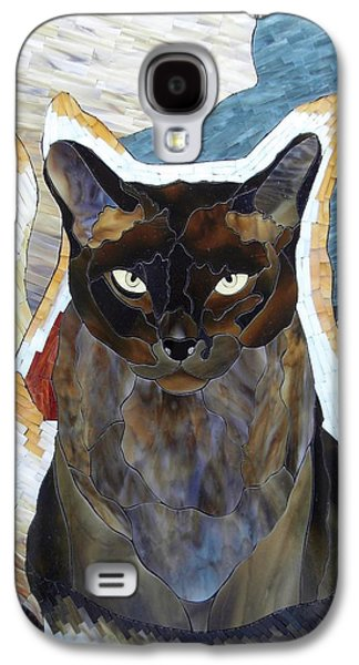 Print Glass Art Galaxy S4 Cases - Seven Cats Galaxy S4 Case by Suzanne Tremblay