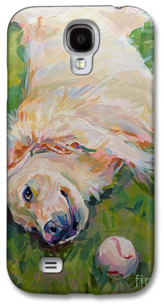 Golden Retriever Galaxy S4 Cases - Seventh Inning Stretch Galaxy S4 Case by Kimberly Santini