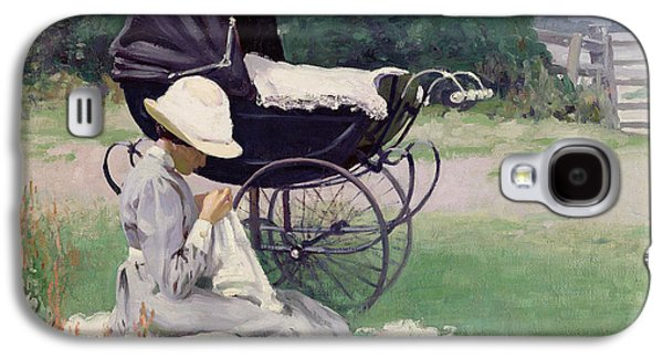 Sewing In The Sun, 1913 Galaxy S4 Case by Brake Baldwin