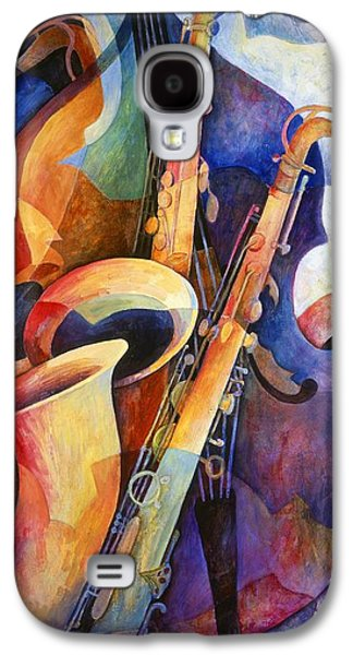 work Paintings Galaxy S4 Cases - Sexy Sax Galaxy S4 Case by Susanne Clark