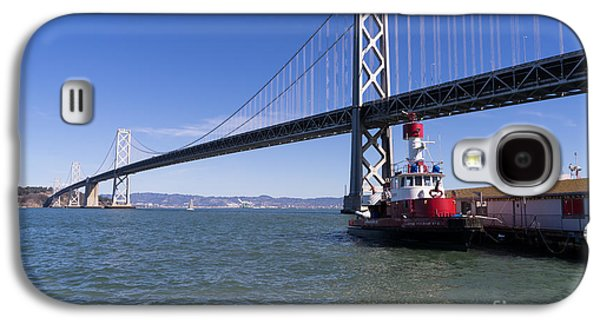 Landmarks Photographs Galaxy S4 Cases - SFFD Guardian Fireboat Number 2 At The Bay Bridge on The Embarcadero DSC01839 Galaxy S4 Case by Wingsdomain Art and Photography