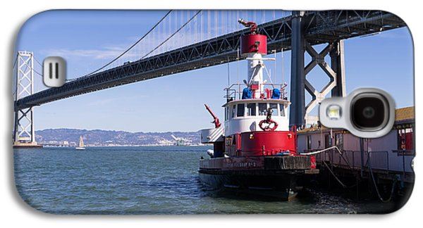 Landmarks Photographs Galaxy S4 Cases - SFFD Guardian Fireboat Number 2 At The Bay Bridge on The Embarcadero DSC01841 Galaxy S4 Case by Wingsdomain Art and Photography