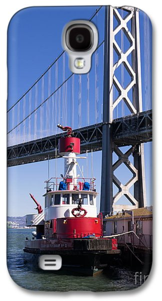 Landmarks Photographs Galaxy S4 Cases - SFFD Guardian Fireboat Number 2 At The Bay Bridge on The Embarcadero DSC01842 Galaxy S4 Case by Wingsdomain Art and Photography